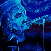 Bono In Blue Print by Colin O neill