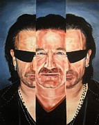 U2 Painting Metal Prints - Bono In III Metal Print by Mark Baker
