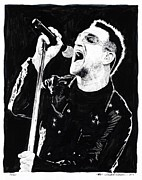 U2 Art - Bono  by Kenneth  Williams