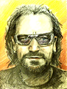Glasses Pastels - Bono - U2 by Marcello Cicchini