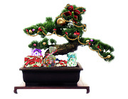 Bonsai Posters - Bonsai Christmas Tree Poster by Gravityx Designs