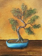 William McCutcheon - Bonsai in Blue Pot