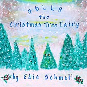 Snowy Trees Paintings - Book Cover for Christmas Story by Edie Schmoll