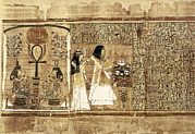 Egyptian Art Prints - Book Of The Dead Or Papyrus Of Any. Ca Print by Everett
