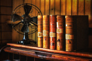 Books And Fan Print by Jerry Fornarotto