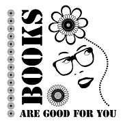 Girls Drawings Posters - Books Are Good For You Poster by Frank Tschakert