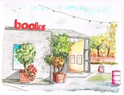 Santa Monica Paintings - Books-Store-in-Bergamot-Station-Santa-Monica-CA by Carlos G Groppa