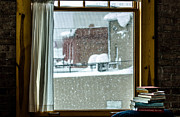 Closing Time Prints - Books Watching It Snow Print by Kristen Garlow Piper