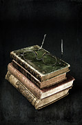 Books With Glasses Print by Joana Kruse