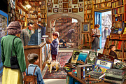 Child Posters Prints - Bookshop Print by Steve Crisp