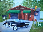57 Chevy Painting Framed Prints - Boom Boom Room Framed Print by Nina Stephens