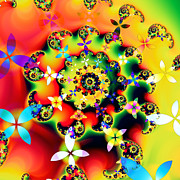 Vivid Colour Digital Art - Boom by Sharon Lisa Clarke