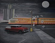 Bullet Painting Prints - Boom town bullet Print by Larry Lamb