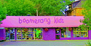 Streetscenes Paintings - Boomerang Kids Baby Store Kiddies Clothing Consignment Shop The Glebe Paintings Of Ottawa C Spandau by Carole Spandau