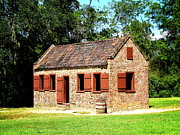 Greg Simmons Prints - Boone Hall Plantation Slave Quarters Print by Greg Simmons