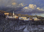 Boonton In Winter Print by David Henderson