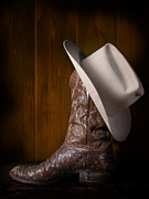 Cowboy Hat Photos - Boot and Cowboy Hat by David and Carol Kelly