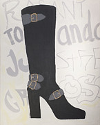 High Fashion Originals - Boot with Graffiti by Annabel Harrison