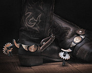 Photo Images Pyrography - Boots and Spurs by Krasimir Tolev