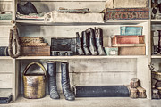Long Ago Prints - Boots and Things - Old General Store Print by Gary Heller