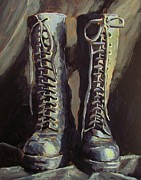 Keith Painting Originals - Boots by Keith Johnson
