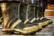 Firefighting Prints - Boots on the Ground Print by Joan Carroll