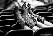 Christopher Holmes Photo Prints - Boots Up - BW Print by Christopher Holmes