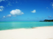 Bora Bora Photos - Bora Shades of Blue and White by Julie Palencia