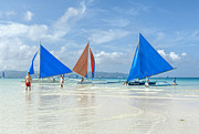 Paul W Sharpe Aka Wizard of Wonders - Boracay Beach Sailboats
