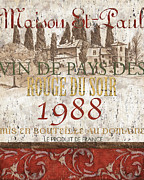 French Wine Prints - Bordeaux Blanc Label 1 Print by Debbie DeWitt