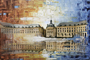 Rebuilt Prints - Bordeaux Port of the Moon Print by Catf