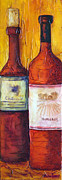 Wines Mixed Media Prints - Bordeaux Vino Print by Phyllis Howard