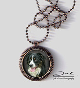 Portrait Jewelry Originals - Border Collie Handcrafted Pendant by Jak of Arts Photography
