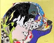 Pop Art Print Prints - Border Collie Print by Michel  Keck