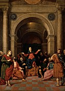 Pentecost Framed Prints - Bordon Paris, Pentecost, 1520 - 1530 Framed Print by Everett