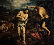 Holy Figures Prints - Bordon Paris, The Baptism Of Christ Print by Everett