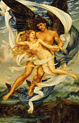 Evelyn De Posters - Boreas And Orietyia Poster by Evelyn de Morgan