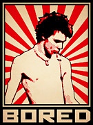 Bassist Posters - Bored Poster by Lance Vaughn