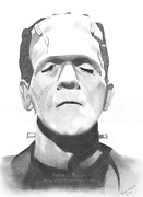 Boris Drawings - Boris Karloff as Frankensteins Monster by Felipe Robles