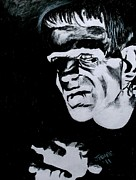 Boris Drawings - Boris Karloff as the Monster by Jeremy Moore