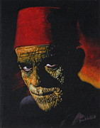 Classic Tapestries - Textiles - Boris Karloff as - The Mummy by Diane Bombshelter