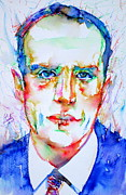 Boris Framed Prints - BORIS VIAN - colored pens portrait Framed Print by Fabrizio Cassetta
