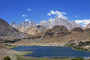 Pakistan Framed Prints - Borith Lake and Mountains Framed Print by Robert Preston