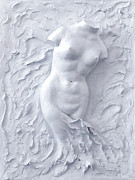 Cast Sculpture Reliefs - Born again by Elena Fattakova