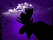 Moose Digital Art Metal Prints - Born Again Metal Print by Robert Orinski