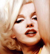 Marilyn Monroe Mixed Media - Born Blonde - Or Was She? by Zeana Romanovna