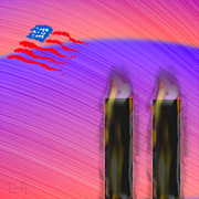 Twin Towers World Trade Center Digital Art - Born On 9/12 by Edward Anderson
