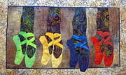 Art Quilts Tapestries Textiles Prints - Born to Dance Print by Lynda K Boardman