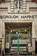 Grocer Prints - Borough Market London Print by Heather Applegate