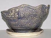 Stone Ceramics - Borrowed Blue by Susan Perry